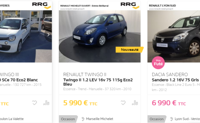 Voiture occasion Renault pour jeune conducteur