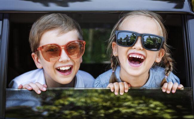 Long trajet en voiture avec des enfants