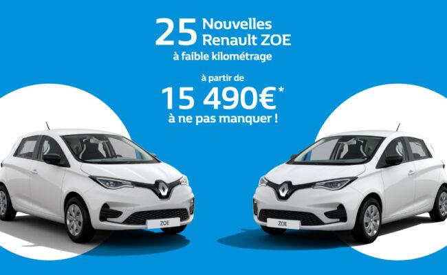 Déstockage Nouvelle Renault ZOE Nice Cannes Antibes Mougin Menton