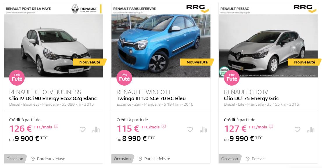 voiture d'occasion à 10 000€