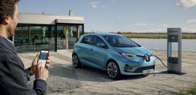 recharge voiture électrique Renault ZOE